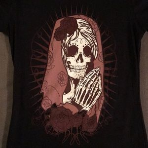 Tops - Day Of The Day Skull Tee 54ee7e246